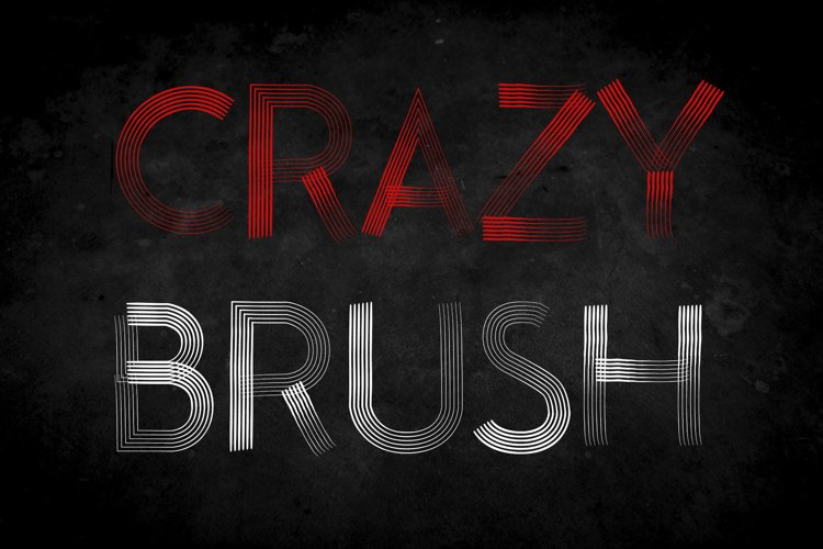 Crazy Brush Halloween Font example image 1