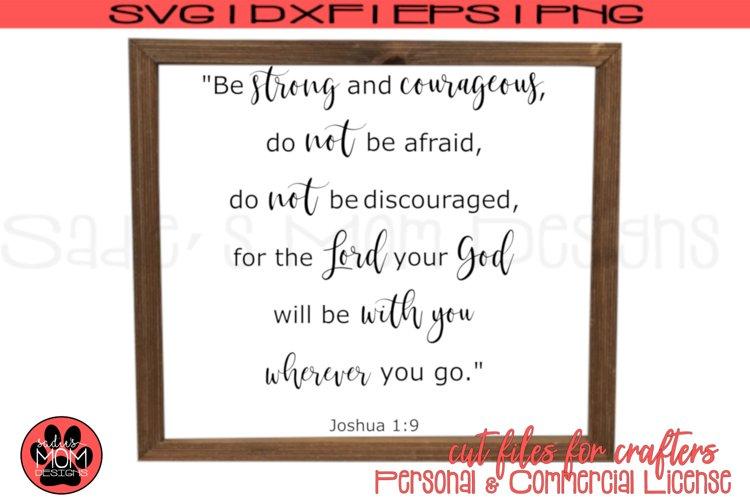 Josuha 1 9 SVG | Be Courageous Cut Files