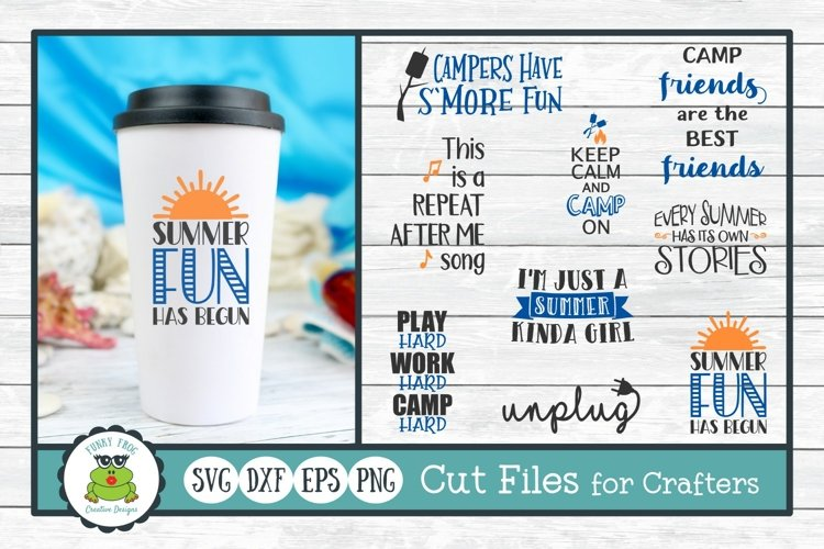 Summer Fun Design Bundle, SVG Cut Files for Crafters example image 1