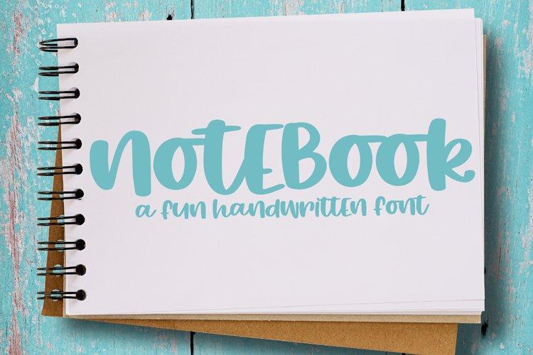 Notebook - A Fun Hand-Written Font example image 1