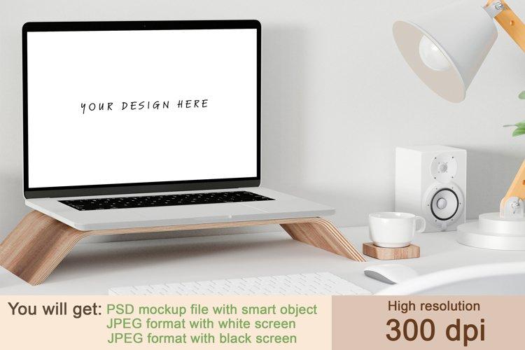 Computer mockup, Computer laptop mockup example image 1