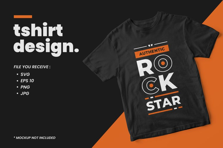Modern typography t shirt design rockstar