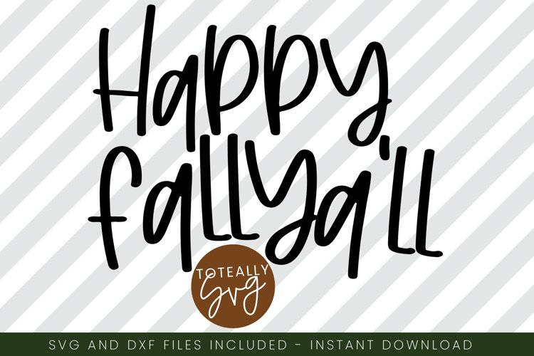Happy Fall Ya'll. Fall SVG. Pumpkin example image 1
