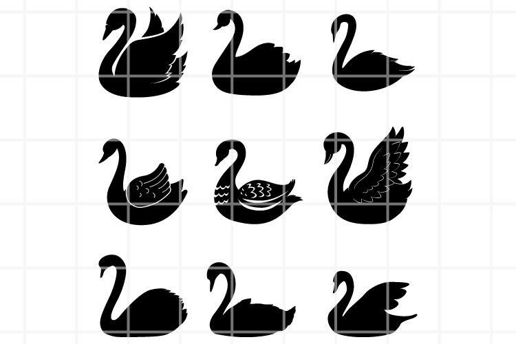 Swan SVG. Swan cut file. Swan cutting. Swan cilp art sign.