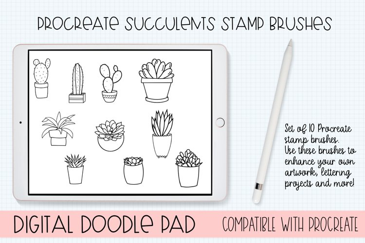 Procreate Succulents Brushes - Set of 10