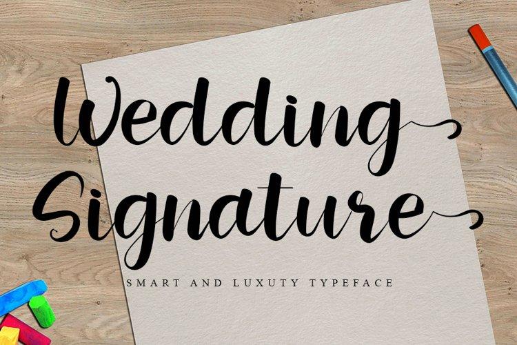 Wedding Signature   Smart & Luxury Font example image 1