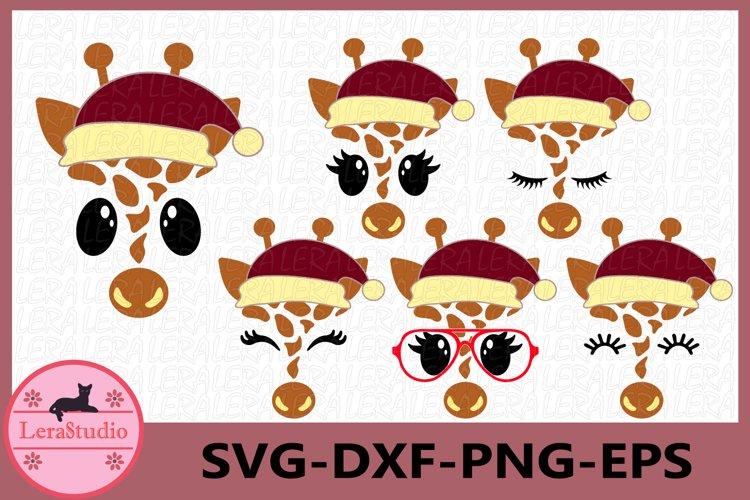 Giraffe Face SVG, Christmas Svg, Giraffe Eyelashes Face example image 1