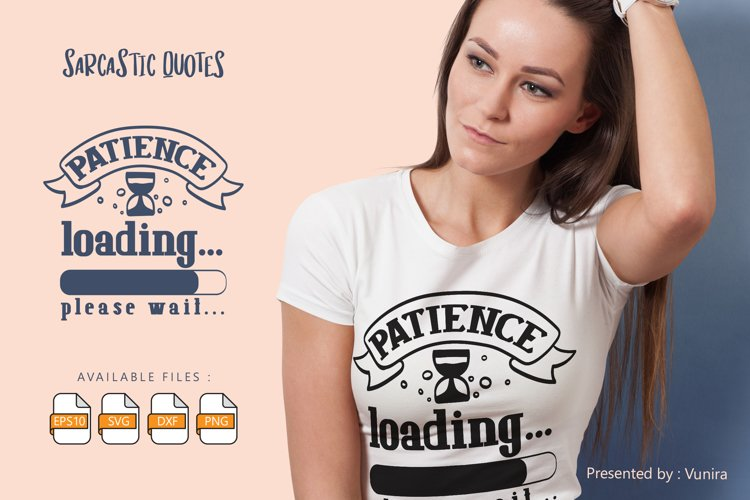 Patience Loading | Lettering Quotes example image 1