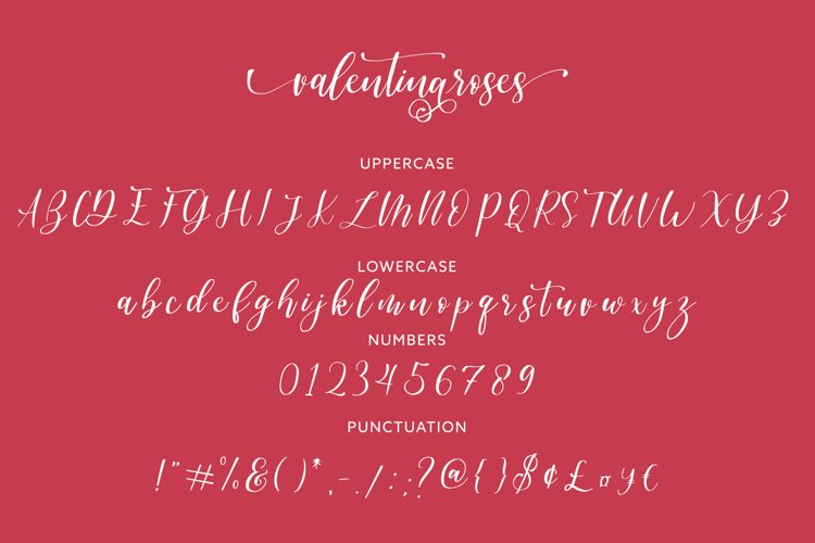 Valentinaroses Lovely Script Font example 3