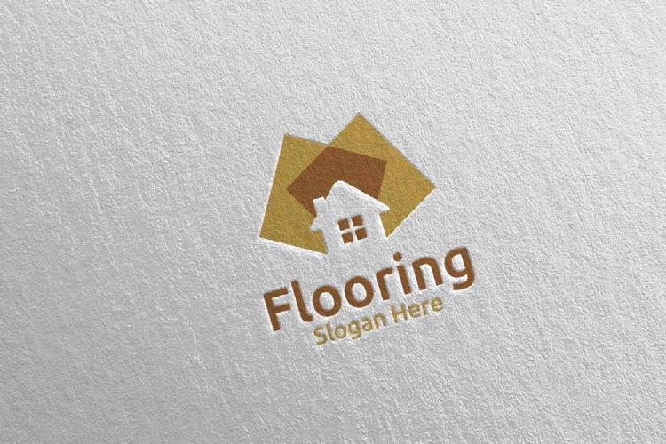 Flooring Parquet Wooden Logo 27 example image 1