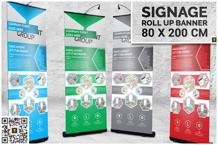 Professional Corporate Hive Roll-Up Banner example image 1