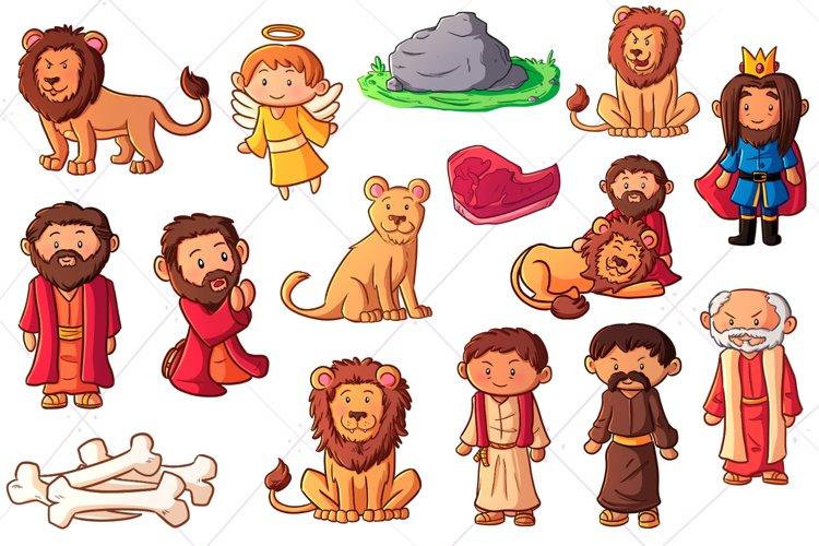 Daniel and the Lions Den Clip Art