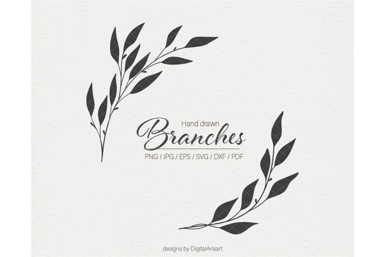 Leaf branch svg Branches svg file Floral svg Branch svg
