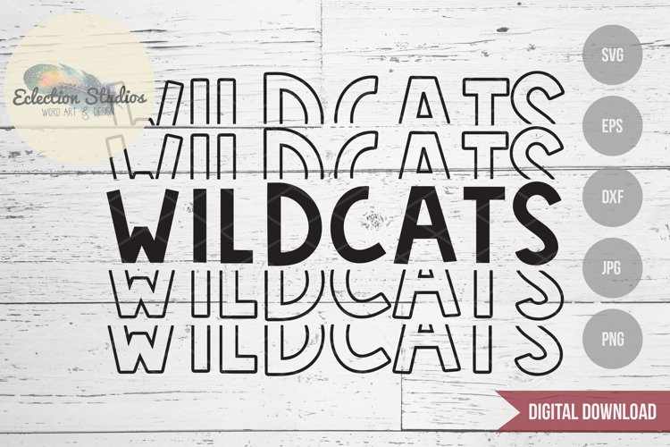 Wildcats SVG, Sports Team Mascot Name, School Pride SVG example image 1