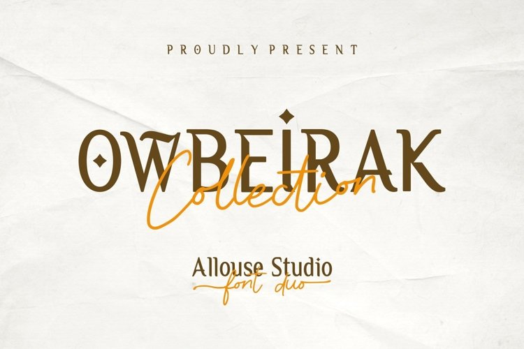 Web Font | Owbeirak Collection example image 1