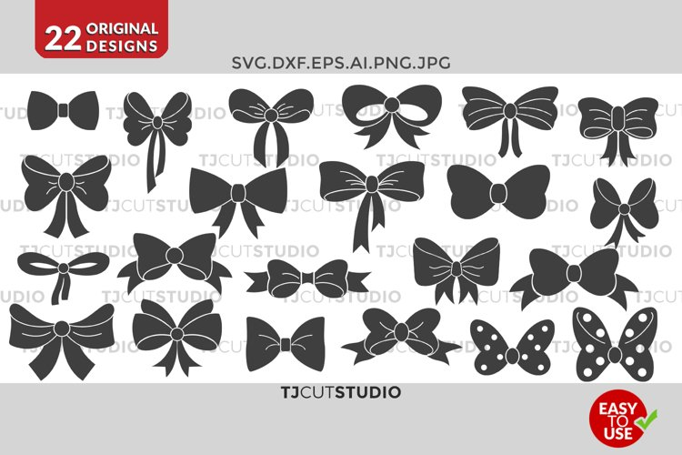 Bow svg collection, Files for Silhouette Cameo or Cricut, Commercial   Personal Use.