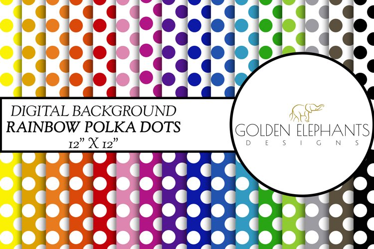 32 Polka Dot Digital Paper, Seamless Scale Patterns example image 1