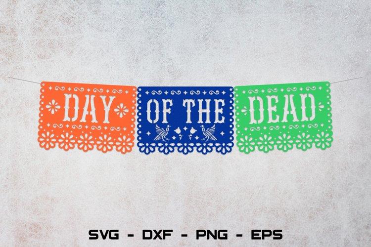 Day of the dead banner svg, Dia de los muertos decor