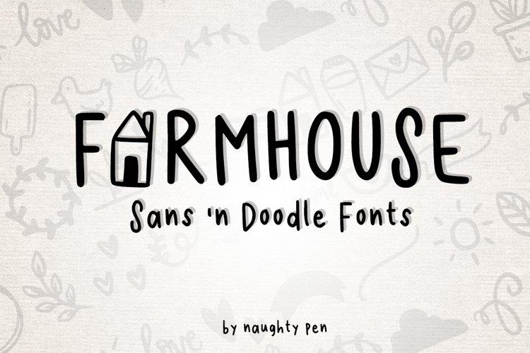 Farmhouse Sans and Doodle Font example image 1
