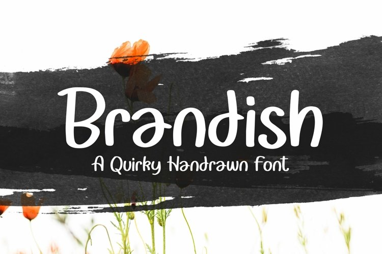 Web Font Brandish - Quirky Handrawn Font example image 1