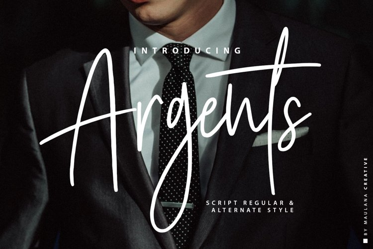 Argents Signature Font example image 1