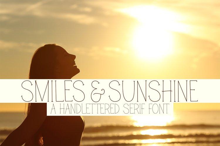 Smiles & Sunshine - A Handlettered Serif Font example image 1