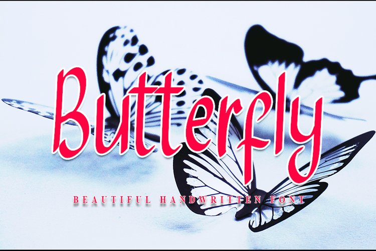 Butterfly - Beautiful Handwritten Font example image 1