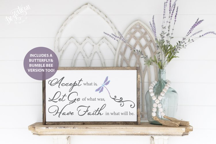 Accept Let Go and Have Faith SVG|DXF Cut File
