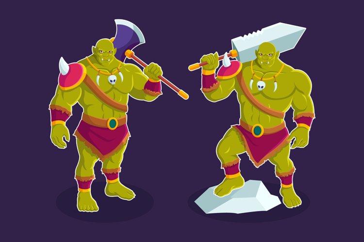 Troll Orc Fantasy Cartoon Character