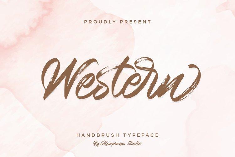 Western - Handbrush Script Font