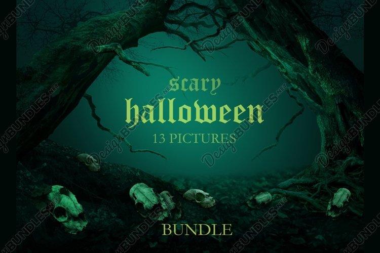 Scary Halloween Bundle 13 pictures JPG Spooky Horror Scenes