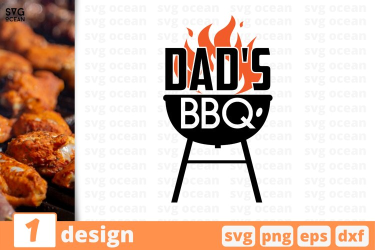 Dads BBQ SVG cut files | Fathers day svg | Dad clipart