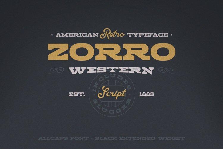 Zorro Font Duo example image 1