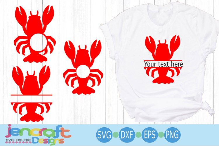 Crayfish Lobster Monogram Frame SVG Mardi Gras SVG