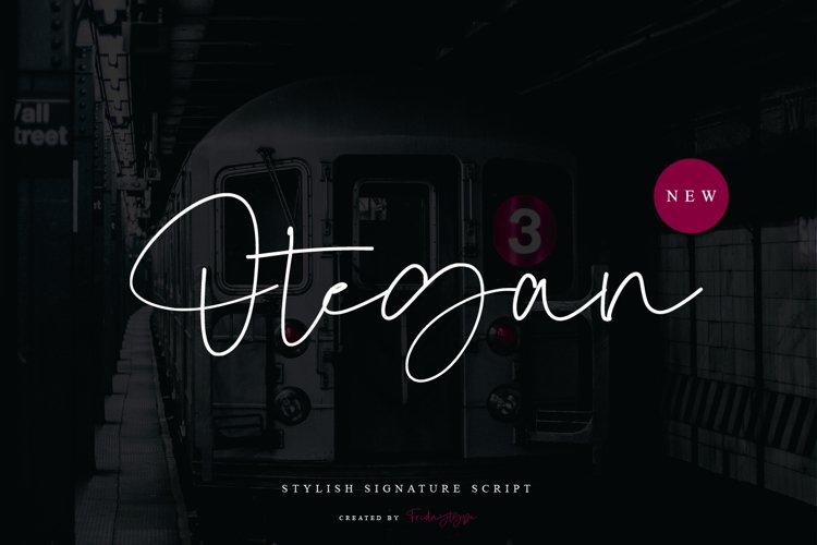 Otegan - Stylish Signature Script example image 1