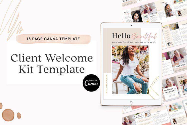 Client Welcome Kit Template for Canva example image 1