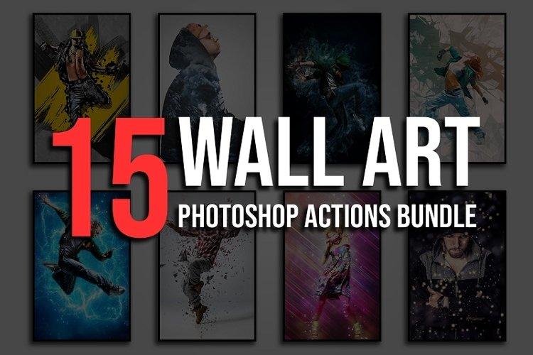 15 Wall Art Photoshop Actions Bundle example image 1