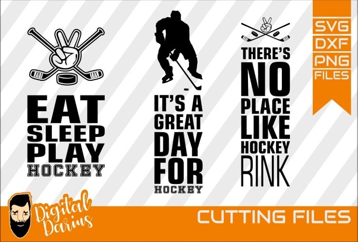 3x Hockey bundle SVG, Sport svg, Cuttable, Digital, Vector example image 1