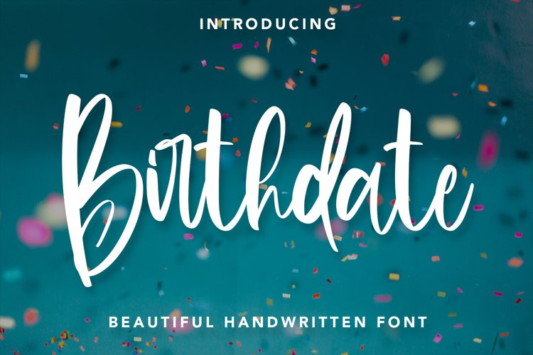 Birthdate - Beautiful Handwritten Font example image 1