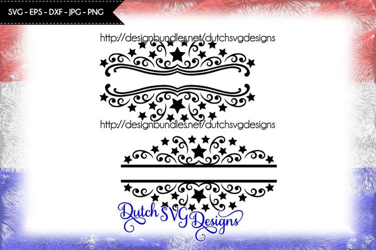 2 Split name cutting files, christmas svg, monogram svg example image 1