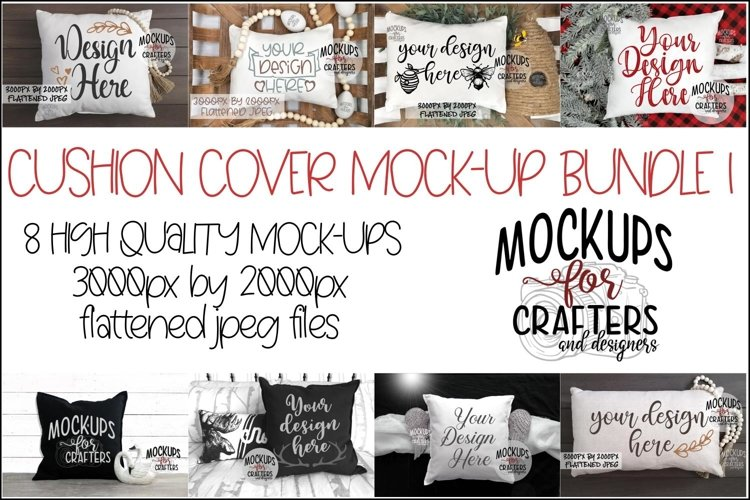 CUSHION COVER MOCK-UP Bundle #1 - EIGHT MOCK-UPS example image 1