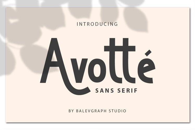 Avotte San Serif example image 1
