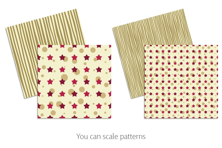 Khaki & Peony Patterns   Seamless Digital Papers example 2