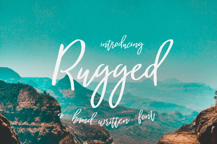 Rugged | a hand-written font example image 1