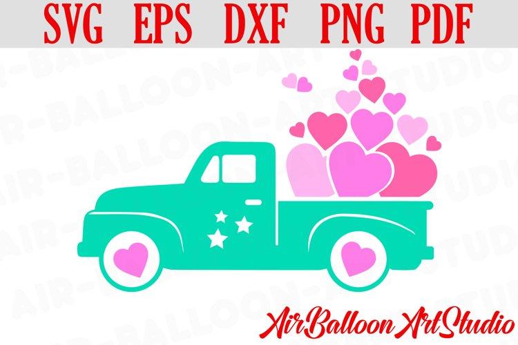 Valentines SVG Valentines Day Truck Svg Love Svg Valentine