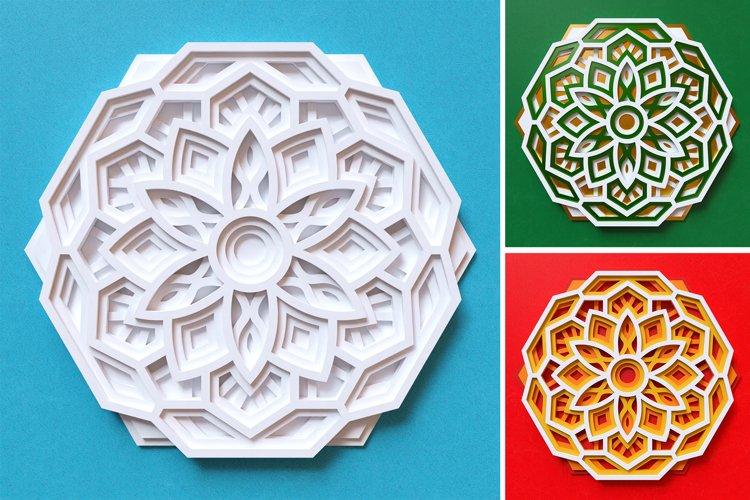 Mandala 3D Layered SVG Cut File - Laser Cutting example 5
