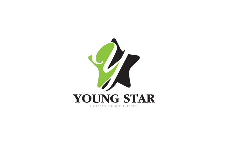 Y Letter Logo In Star example image 1