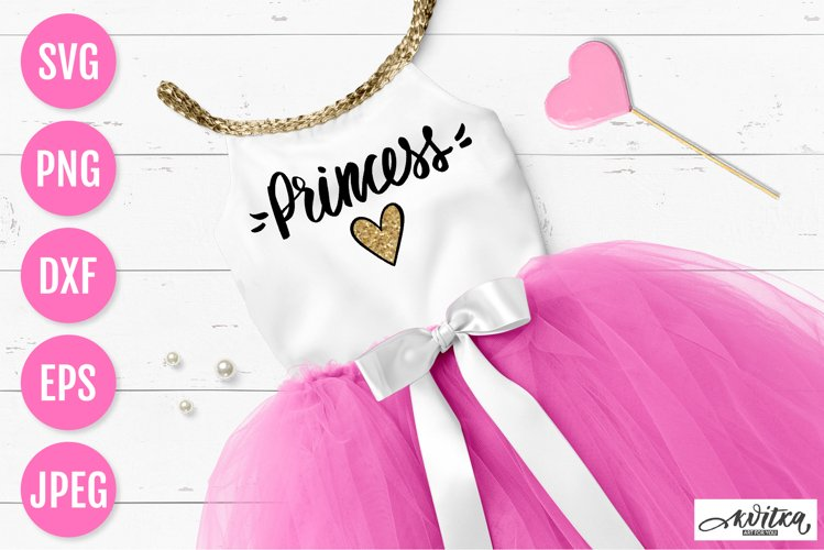 Princess SVG, birthday princess, baby designs, heart glitter
