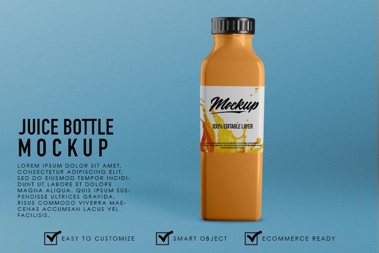 Premium Realistic Juice Bottle Container Mockup Template