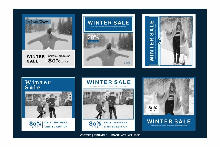 winter sale color blue example image 1